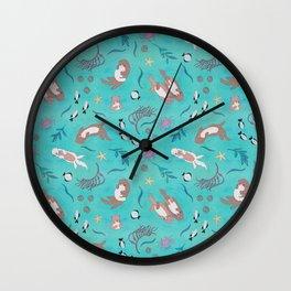 Sea Otters Wall Clock
