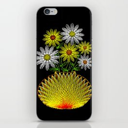 String Art Flowers iPhone Skin