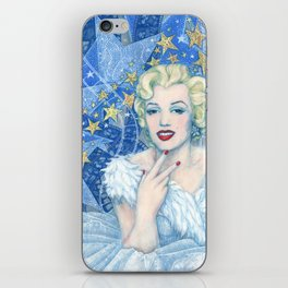 Marilyn, Old Hollywood, celebrity portrait iPhone Skin