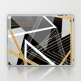 Original Gray and Gold Abstract Geometric Laptop & iPad Skin