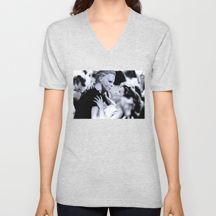 MICHAEL MYERS IN DIRTY DANCING Unisex V-Neck