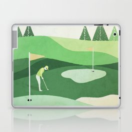 On The Green Two Stokes Under Laptop & iPad Skin
