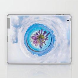 Purple lupines - tiny planet Laptop & iPad Skin