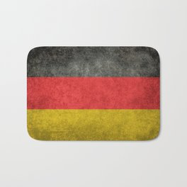 German National flag, Vintage retro patina Bath Mat