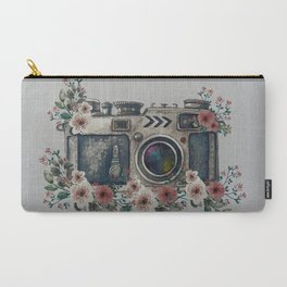 Camera with Summer Flowers Carry-All Pouch