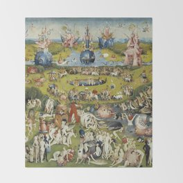 THE GARDEN OF EARTHLY DELIGHT - HEIRONYMUS BOSCH Throw Blanket