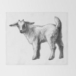 Goat baby G147 Throw Blanket