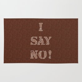 I say no! Style, wooden pattern 2 Rug
