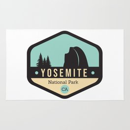 Yosemite National Parks Badge Rug