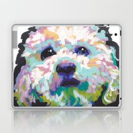 maltese poodle Maltipoo Dog Portrait Pop Art painting by Lea Laptop & iPad Skin