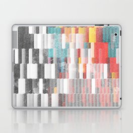Vibrant Graffity on Black and White Geometry Laptop & iPad Skin