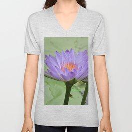Blue Water Lilies in Hangzhou Unisex V-Neck