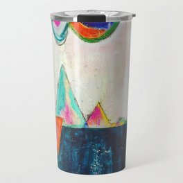 Bliss land abstract candy colored painting Travel Mug