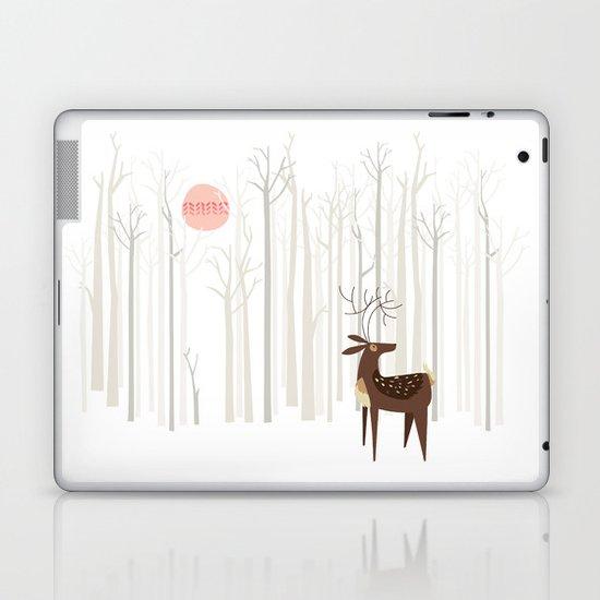 Reindeer of the Silver Wood Laptop & iPad Skin