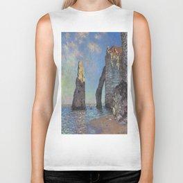 Claude Monet's The Cliffs at Etretat Biker Tank