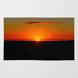 Sunrise at High Peak. Rug