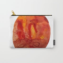 Orange Crush Agate Watercolor Carry-All Pouch