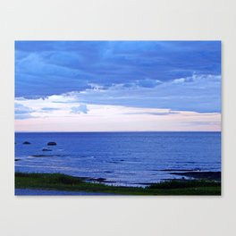 Blue on Blue at the River Mouth Canvas Print