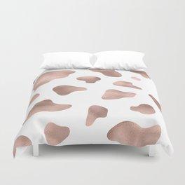 Rose gold cow print Duvet Cover