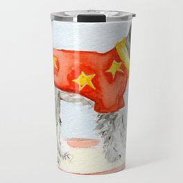 Starry Scruffy Schnauzer Travel Mug