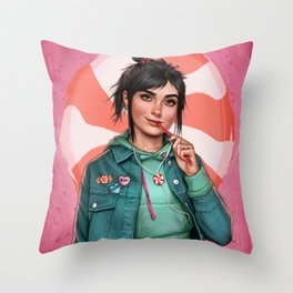 Candy princess Throw Pillow