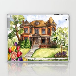 Victorian Mansion in the Spring Laptop & iPad Skin