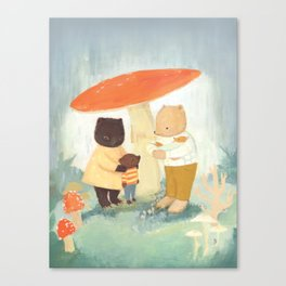Under the Mushroom by Emily Winfield Martin Canvas Print