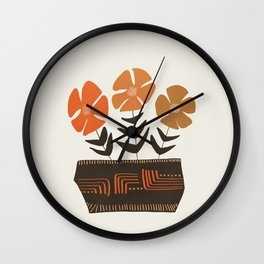 Floral vibes II Wall Clock