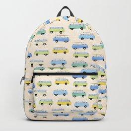 Summer surf bus pattern Backpack