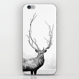 Wild - Portrait of a deer iPhone Skin