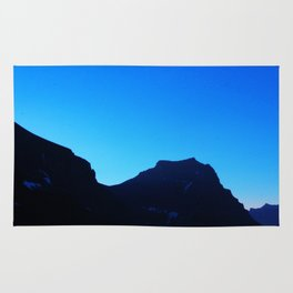 Dawn at Glacier National Park, Rocky Mountains, Going to the Sun Road, Logan Pass Rug