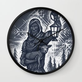 Winter Wanderer Wall Clock