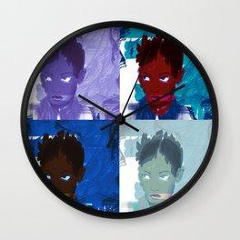 4 faces Wall Clock