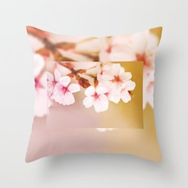 Blooming fairy cherry tree Throw Pillow