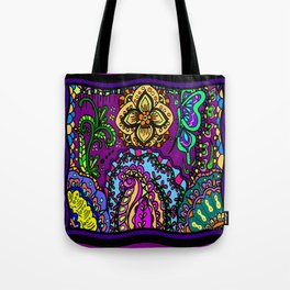 Moroccan inspired flowers Tote Bag