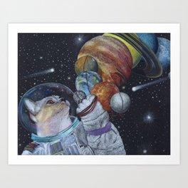 Cat in Space Art Print