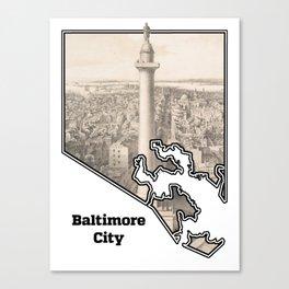 Washington Monument, Baltimore MD Canvas Print