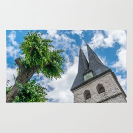 Tree & Bell Tower Rug