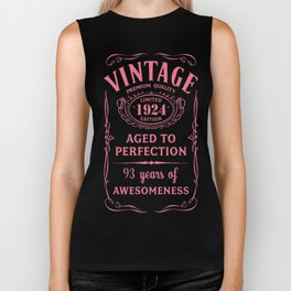 Pink-Vintage-Limited-1924-Edition---93rd-Birthday-Gift Biker Tank