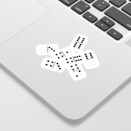 Black and white domino seamless pattern Sticker