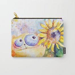 Sunflower and cat Carry-All Pouch
