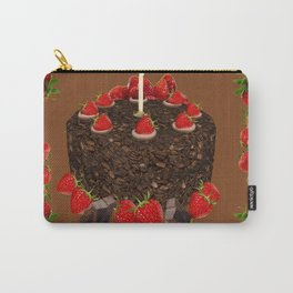 CHOCOLATE & STRAWBERRIES  BIRTHDAY CAKE Carry-All Pouch
