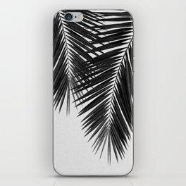 Palm Leaf Black & White II iPhone Skin