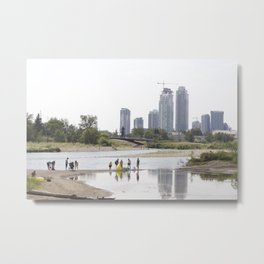 St. Patrick's Island river scene Calgary Metal Print