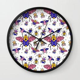 Magic Bugs pattern Wall Clock