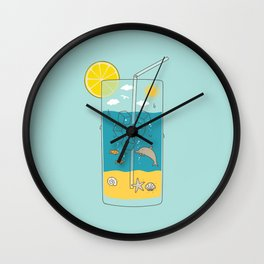 summer drink Wall Clock