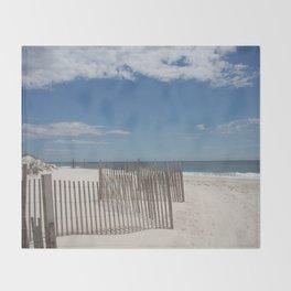 Long Island Beach Throw Blanket