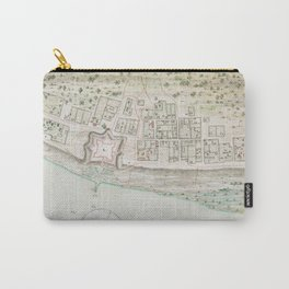 Vintage Map of Mobile AL (1763) Carry-All Pouch