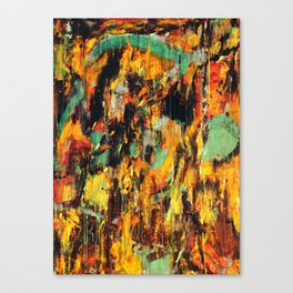 Untitled Abstract - Taunting Jester Canvas Print
