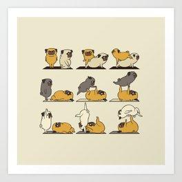 AcroYoga with The Pug Art Print